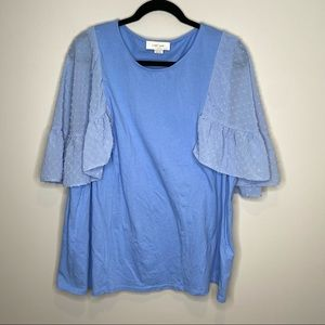 ASOS Lost Ink Blue blouse size 5X
